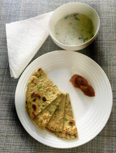 Methi Paratha (Fenugreek Indian flatbread)